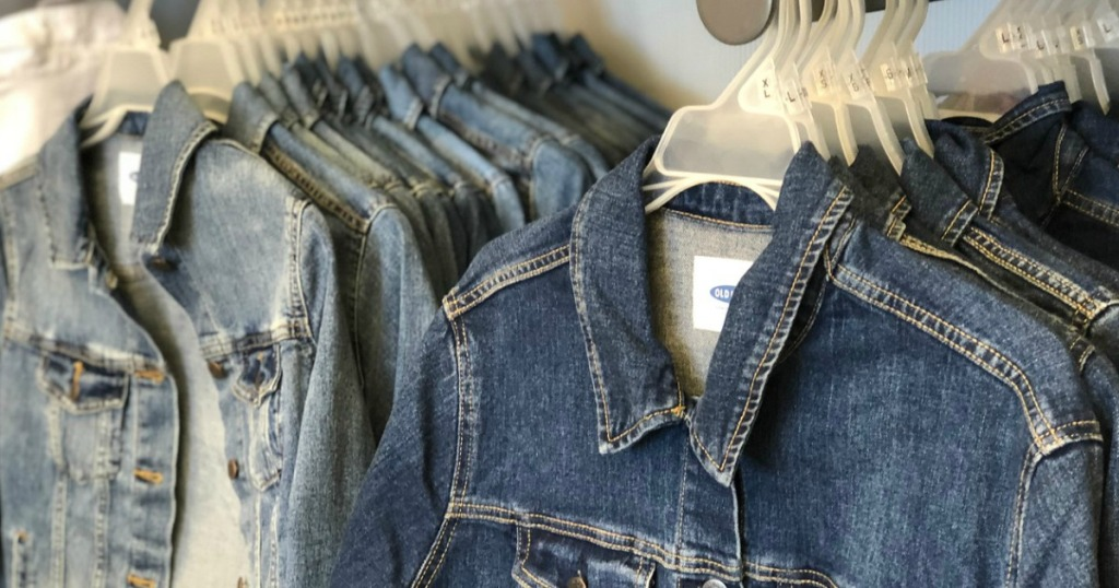 Old Navy Jean Jackets on hangers
