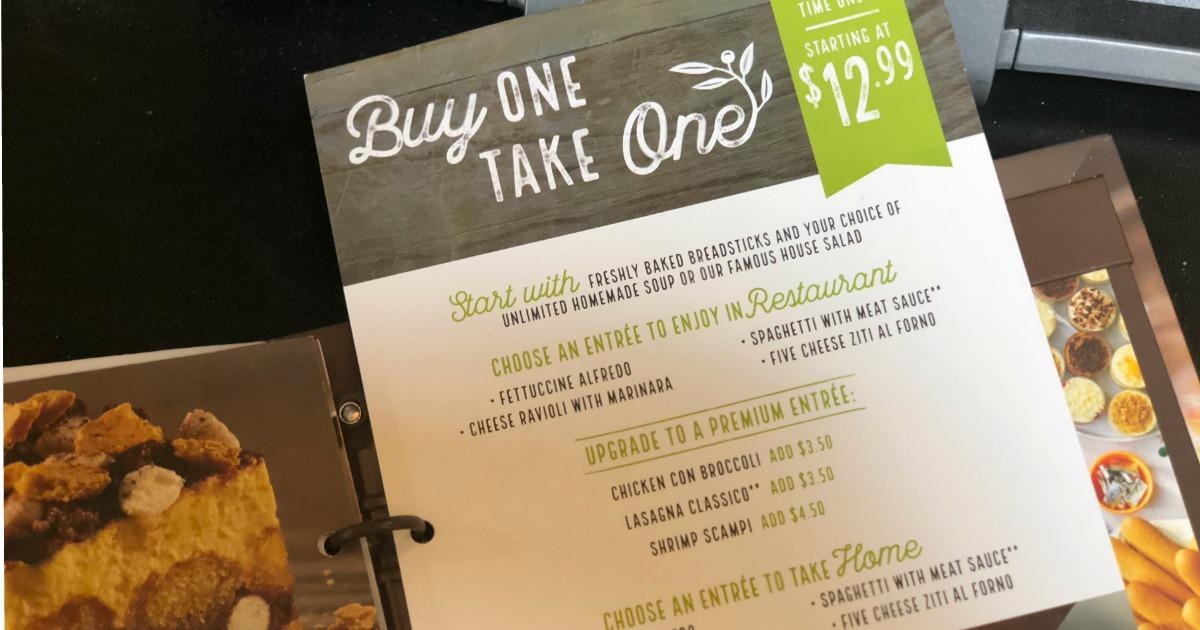 Dinner for two only at olive garden salad breadsticks entr es hip2save for Olive garden soup salad and breadsticks dinner