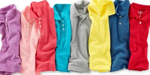 ALL OshKosh B'Gosh Uniform Polo Shirts Only $4.97 Shipped (Regularly $16+)