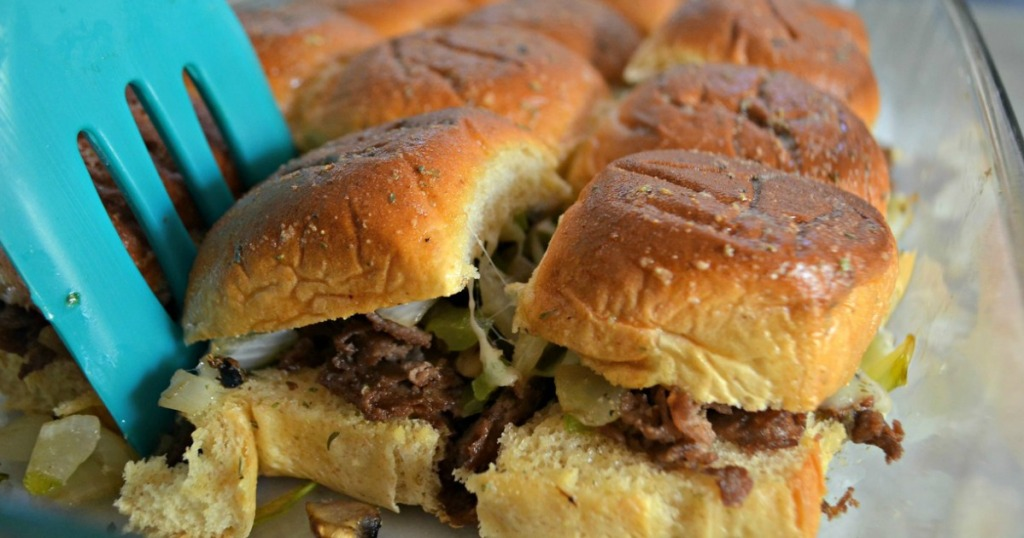 Game Winning Philly Cheesesteak Party Sliders