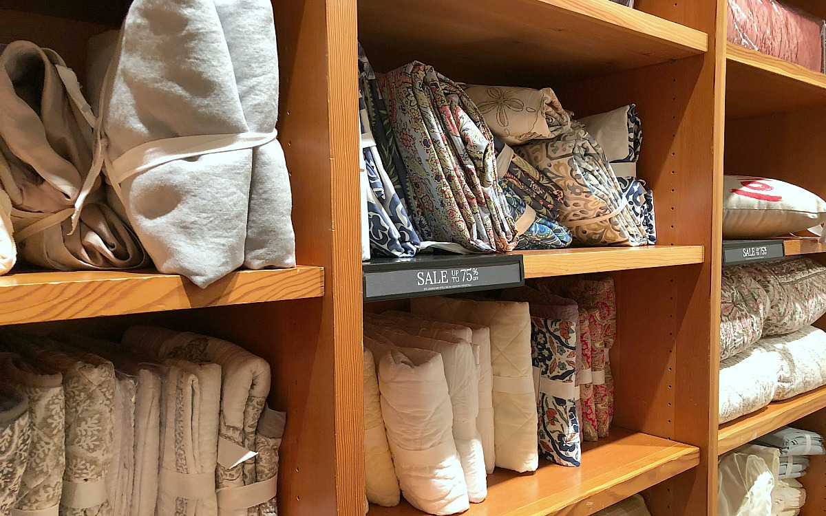 shop pottery barn with these money-saving tips – pottery barn clearance wall with textiles