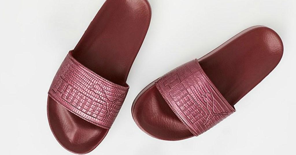192f1c5dc957d3 PUMA Leather Slides Just  11.23 (Regularly  40) at FinishLine.com + ...