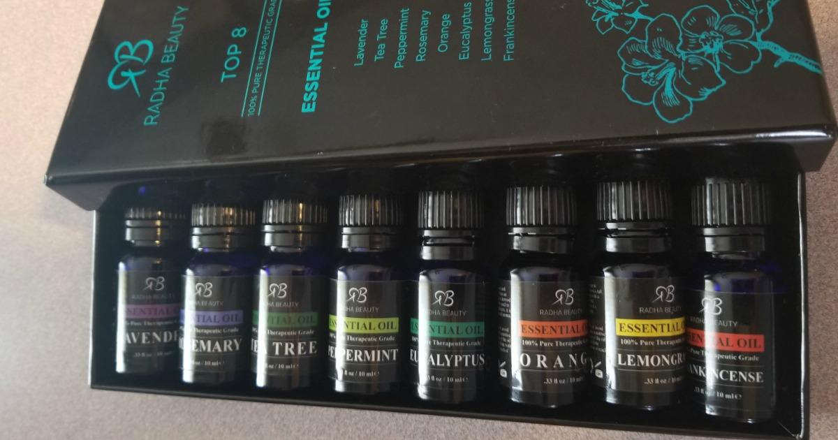 radha beauty essential oils - box closeup
