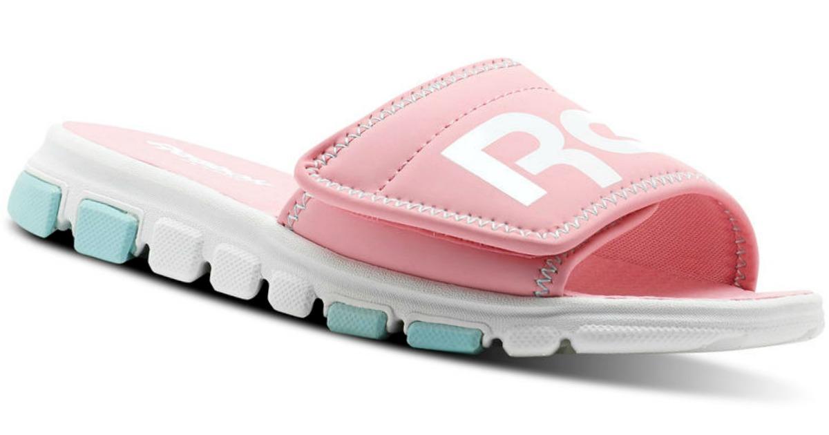 7ce5b88d016 Buy two Reebok Kids Classic Slide Sandals  25 each. Total    50. Use promo  code SCHOOL (Buy One