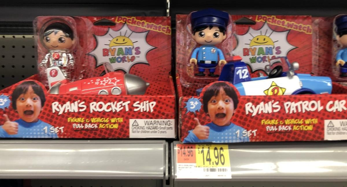 Ryan's World toy line Ryan's Rocket Ship and Patrol Car just hit retail stores like Walmart