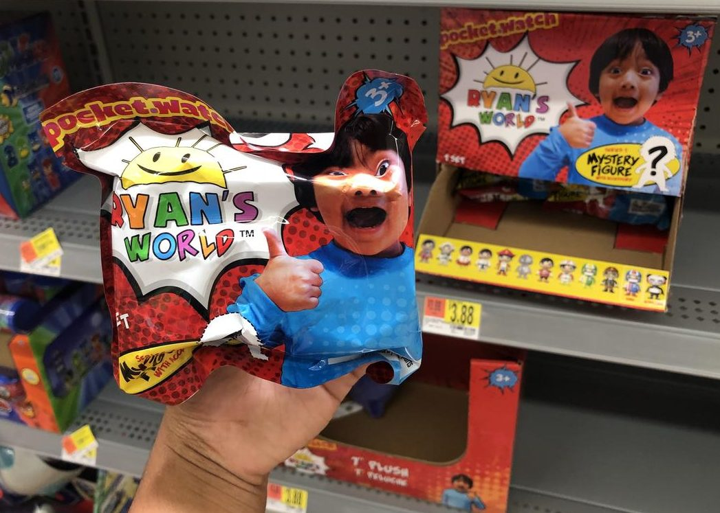 Ryan's World toy line including mystery figures just hit retail stores like Walmart