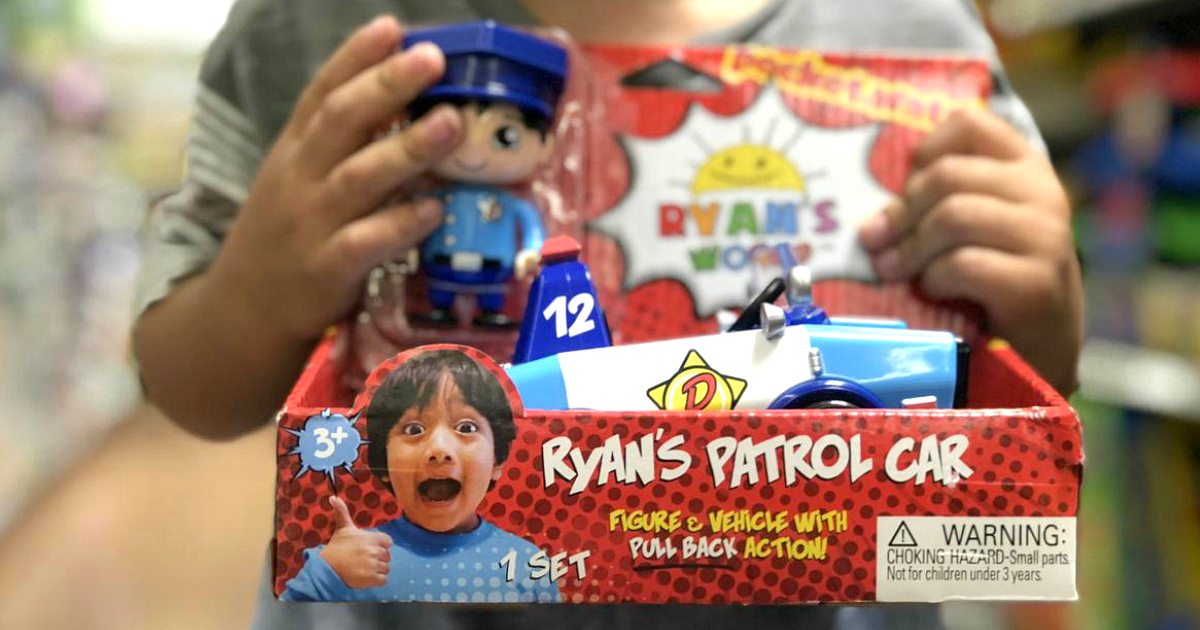 Ryan's World toy line just hit retail stores like Walmart