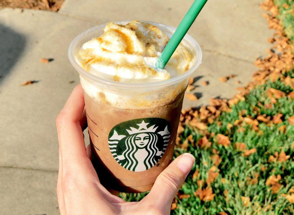 salted caramel mocha at Starbucks