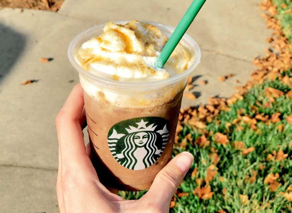 salted caramel mocha at Starbucks