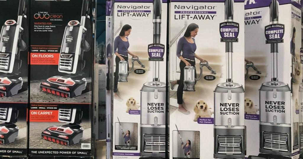 Shark Navigator Lift-Away Bagless Vacuum Cleaner in boxes in store