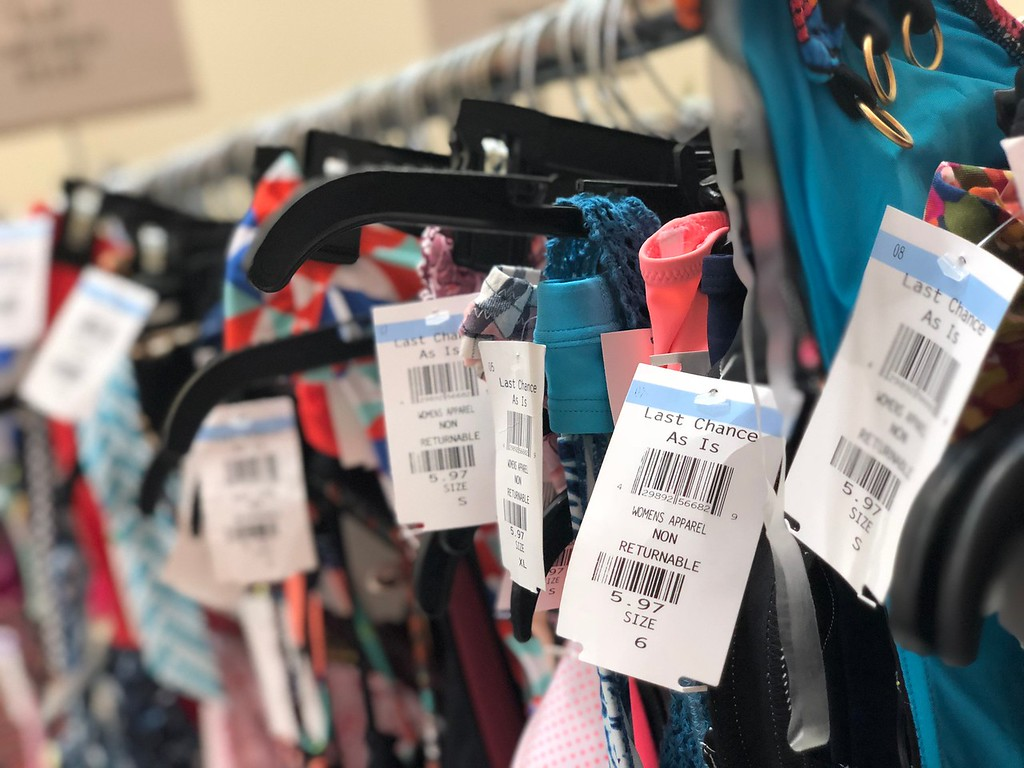 nordstroms last-chance store deals, tips, and tricks – close up of tags on clothing items