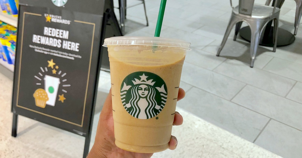 new blended protein cold brew starbucks – Blended drink in hand