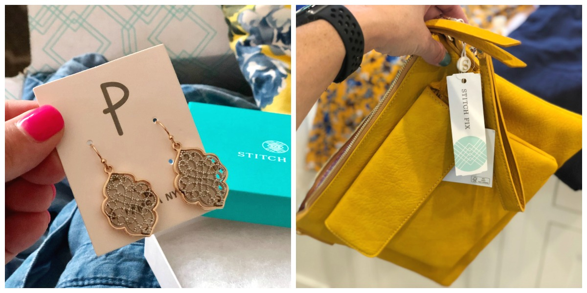 stitch fix earrings and small purse - wardrobe review