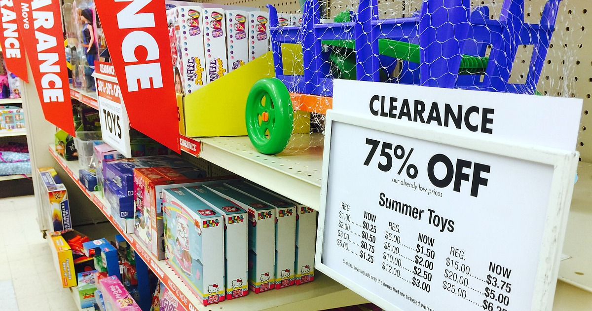 save money with these summer clearance sales – summer toys clearance shelves