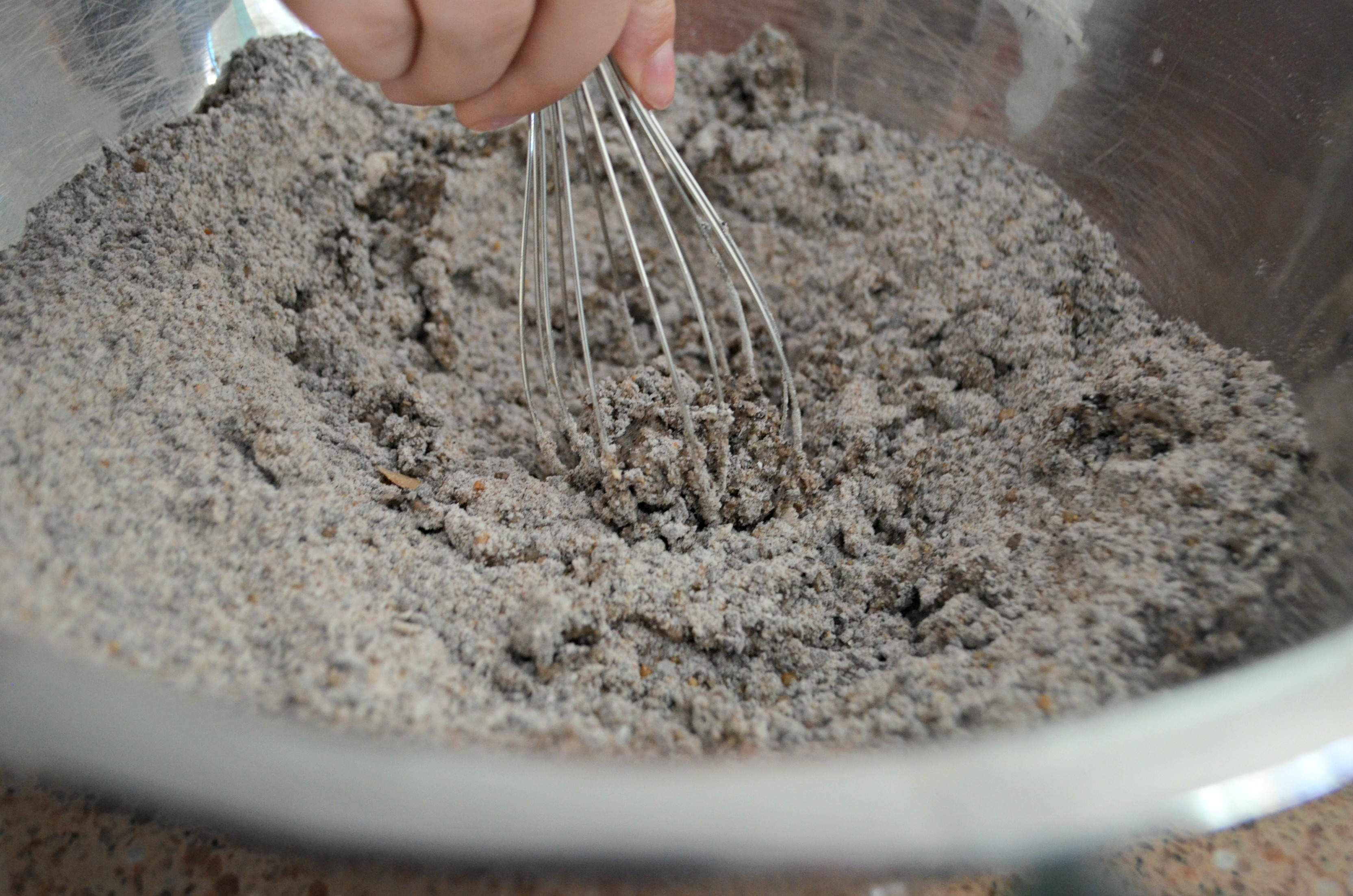 diy dinosaur surprise eggs – Mixing the ingredients