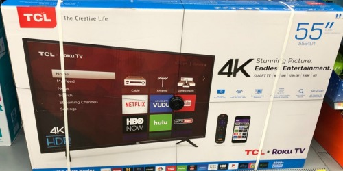 Up to 30% Off TCL 4K UHD Roku Smart TVs at Target.com