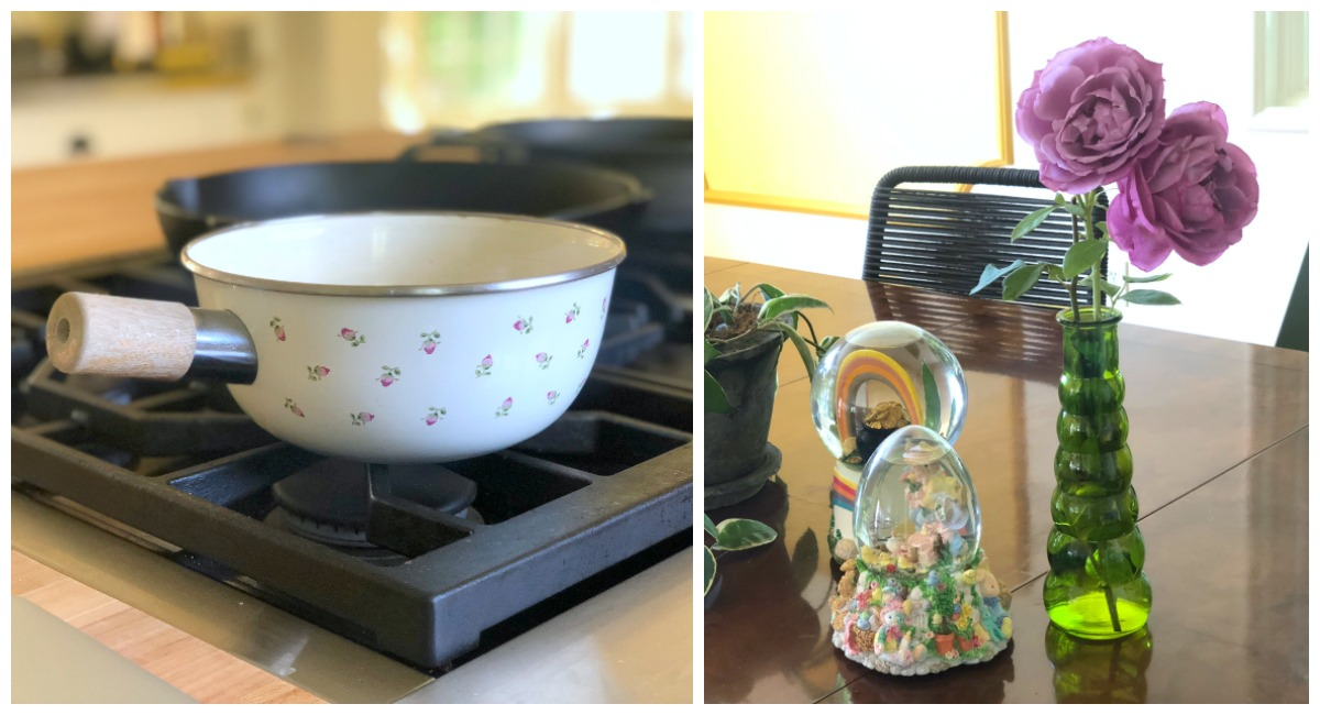 collin's deals and finds this week — thrift store cooking pot and flower vase