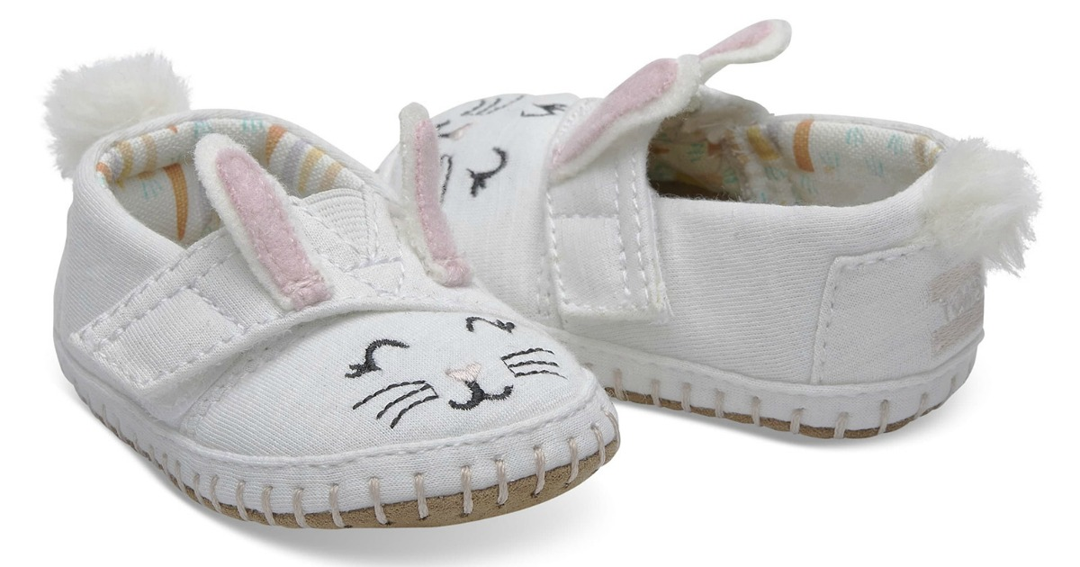 6a90a9b9f6f Tiny TOMS Bunny Face Jersey Crib Alpargatas Just  19.99 shipped (regularly   31.95)