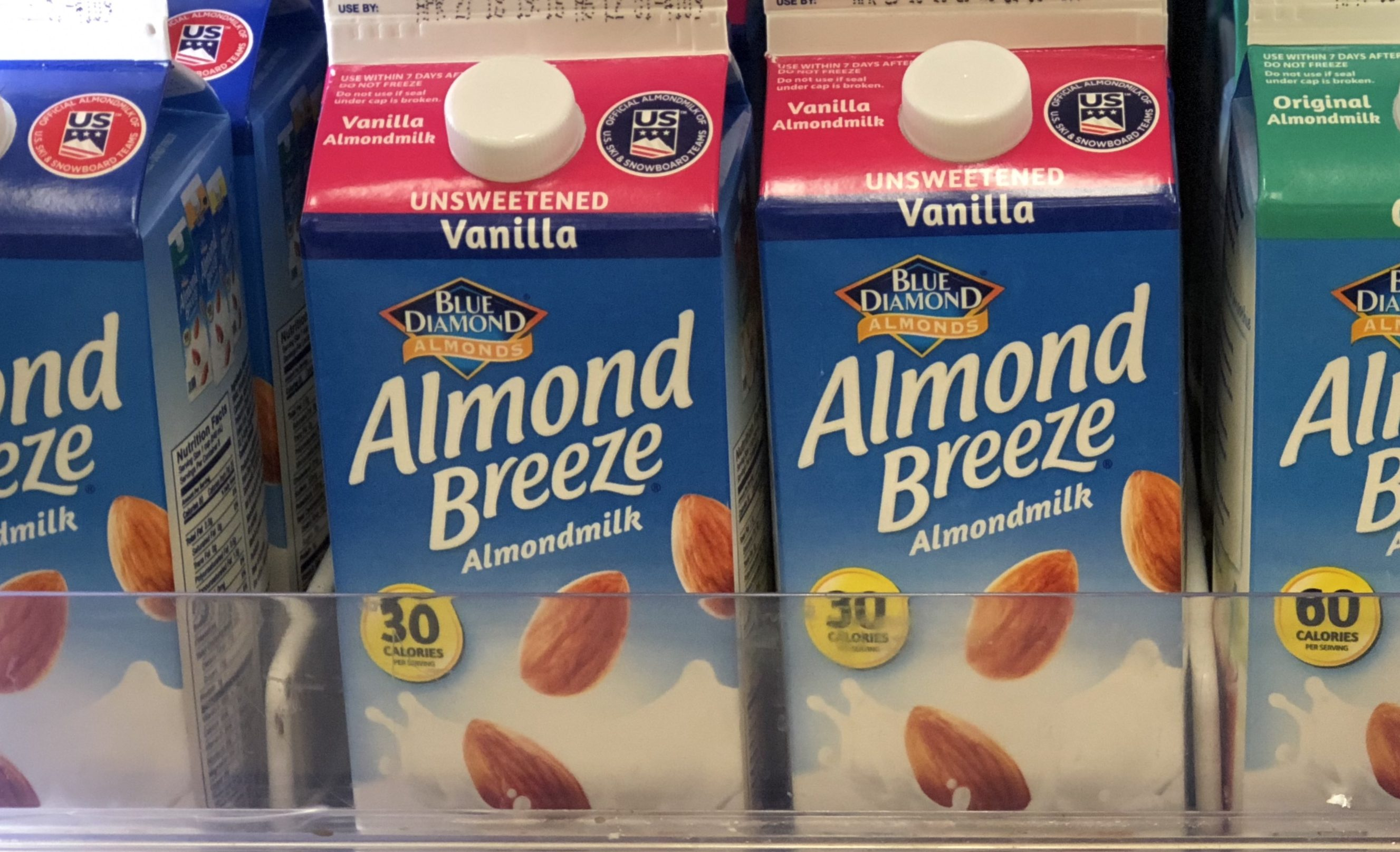 vanilla almond breeze milk recalled – in the refrigerated section of the store
