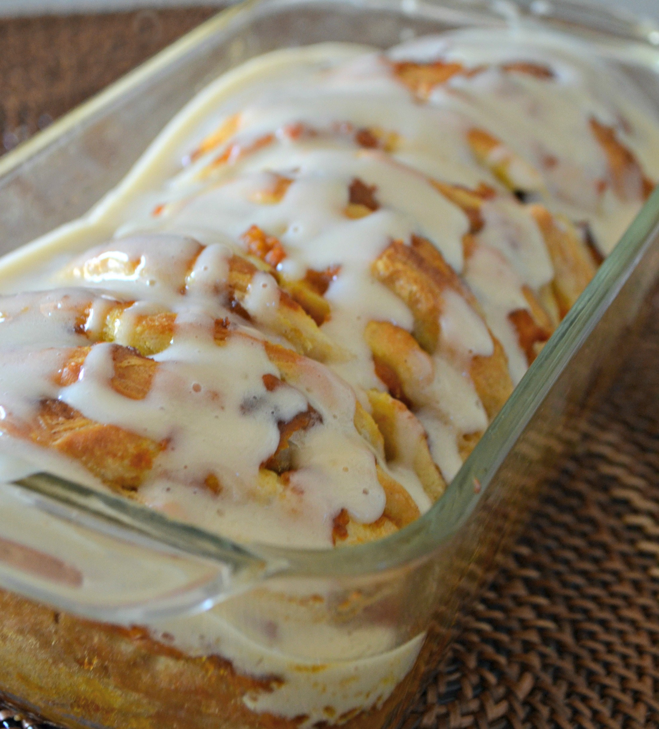 pull apart pumpkin spice loaf baked in the pan and ready to serve