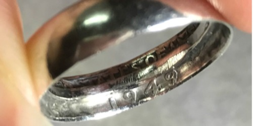 A Wedding Ring Made From a Quarter….