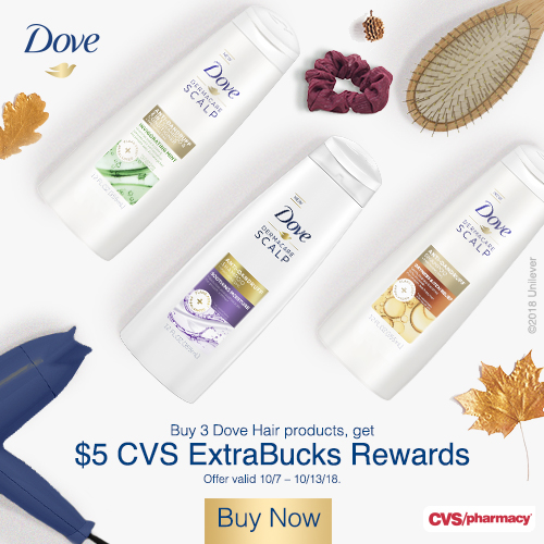 Dove hair care products at CVS