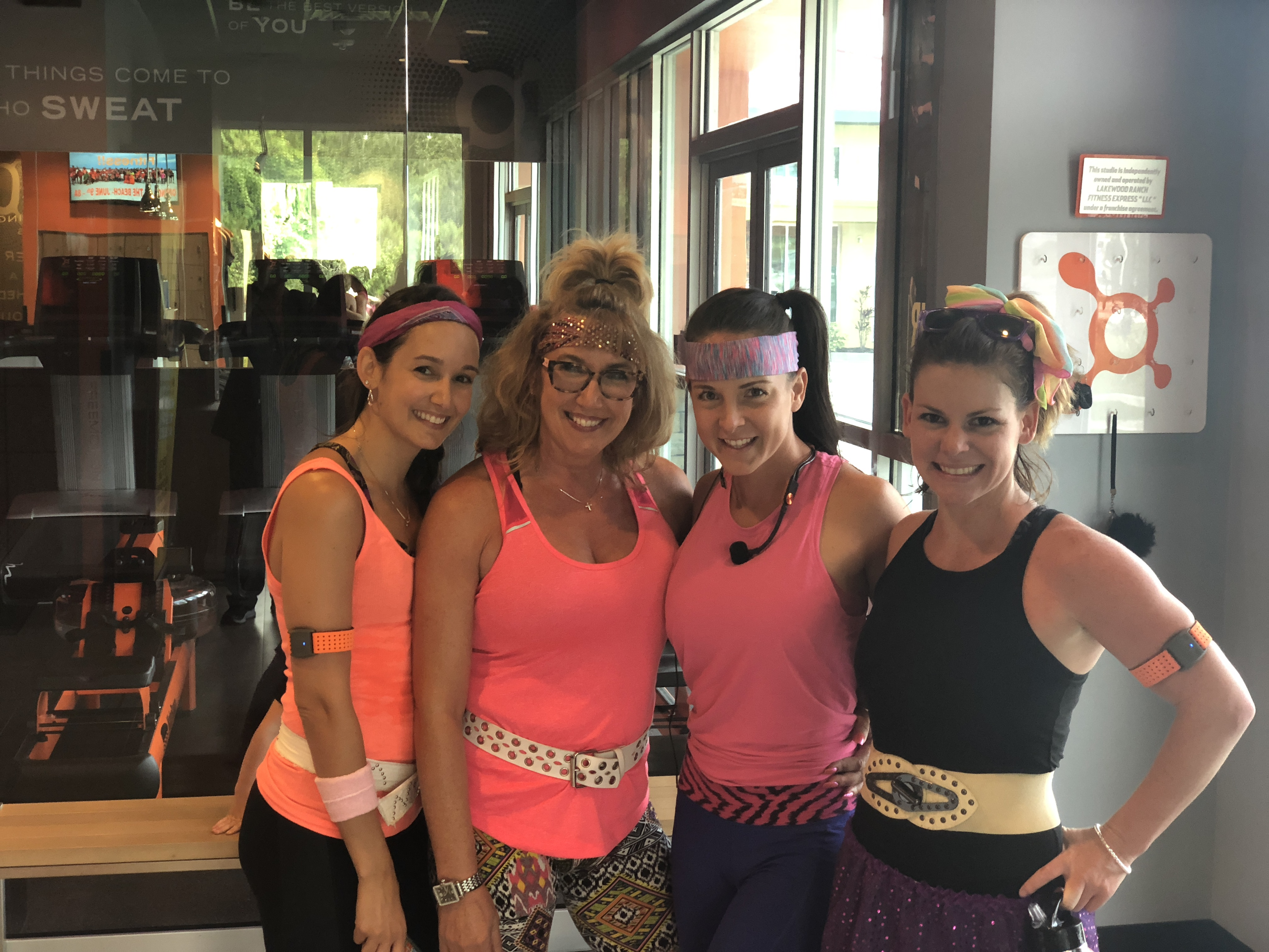 orangetheory fitness review – Erica dressed up for a theme week