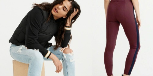 Abercrombie & Fitch Puffer Jacket, Leggings & Fragrance Sample Only $30.45 (Regularly $129)