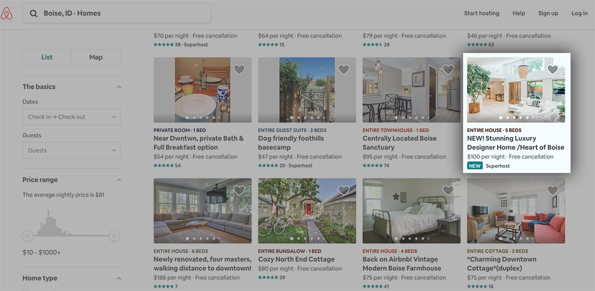 Save money with collin's airbnb tips — searching newer listing on airbnb