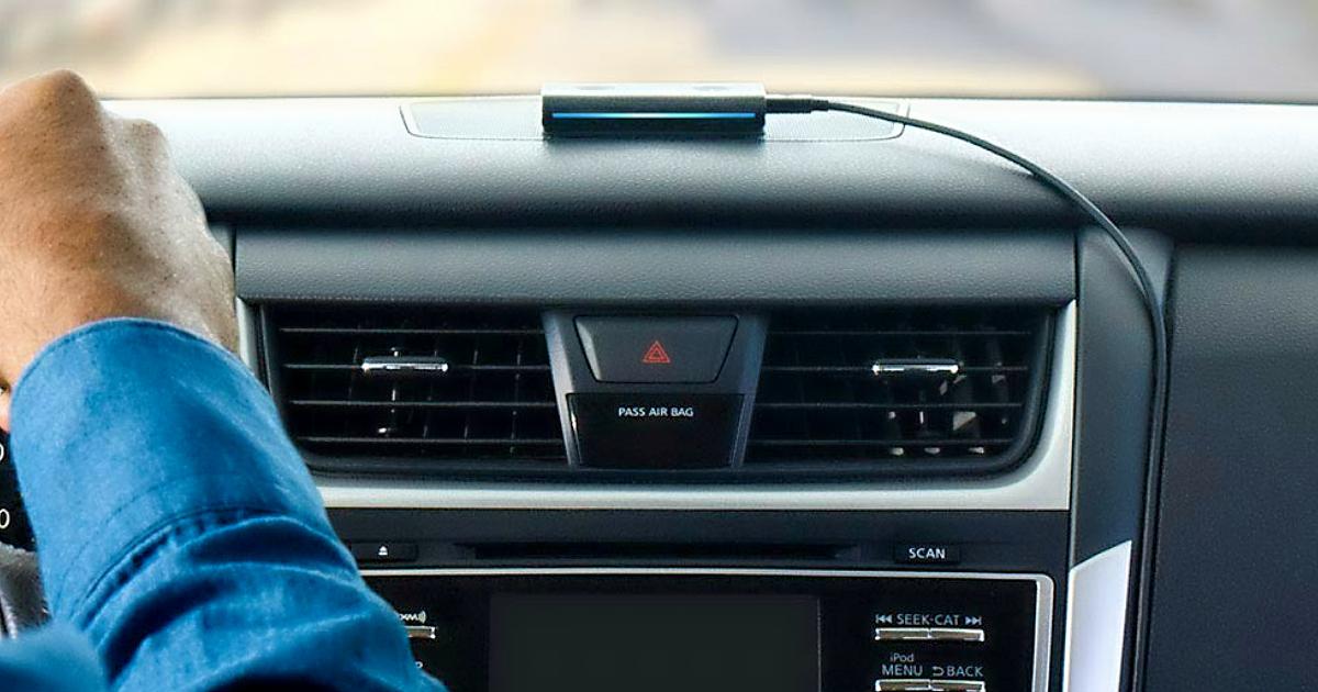 Amazon Alexa Echo Auto PreOrder - a car dashboard