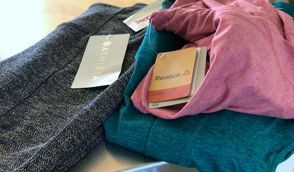 Keto snacks, activewear, and beauty samples deals! — tjmaxx workout finds with athleta pants and reebok long sleeve shirts