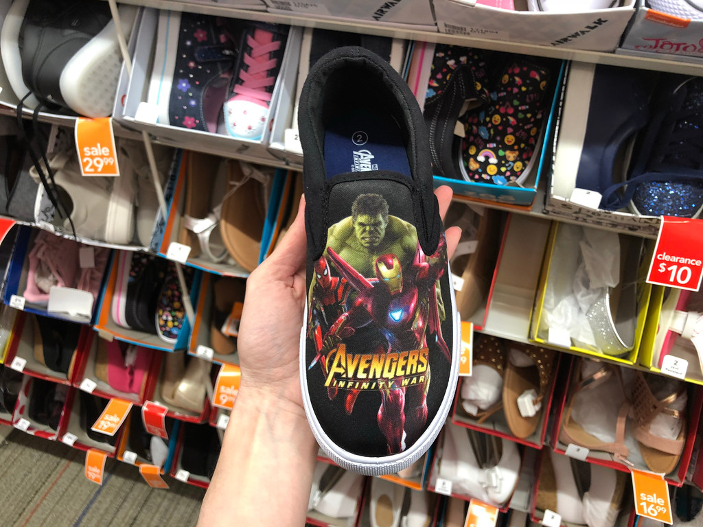 1b0ee4c7d818 Avengers Infinity Boys Twin Gore Sneakers  9.99 (regularly  19.99) Use  promo code 251627388 (25% off) Final cost  7.49!