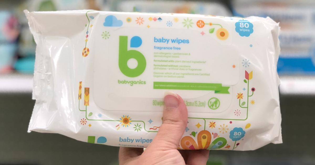 photograph about Babyganics Coupon Printable named Babyganics Wipes Exactly $1.32 Every At the time Focus Reward Card +