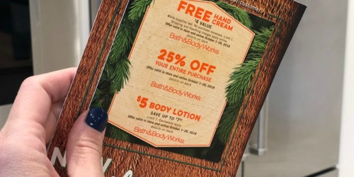 Possible FREE Bath & Body Works Hand Cream Coupon & More (Check Your Mail)
