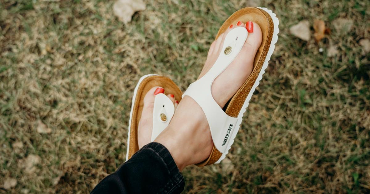 54e26c86eae Birkenstock Women s Gizeh Birko-Flor Sandals Just  55 Shipped (Regularly   100)