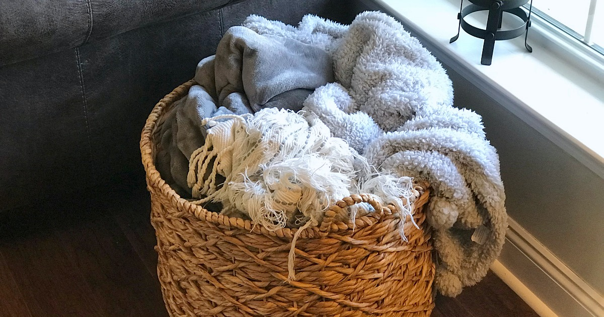 our favorite blankets we have an obsession and shop for — blanket assortment in basket