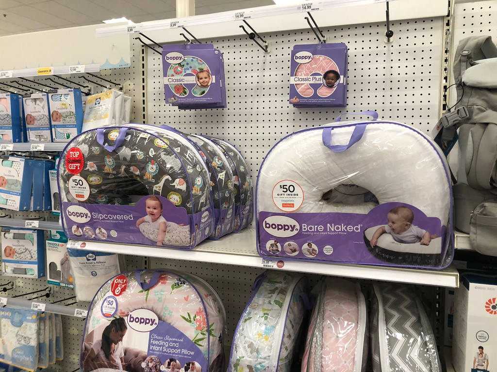 baby registry must-have items include this U-Shaped Boppy