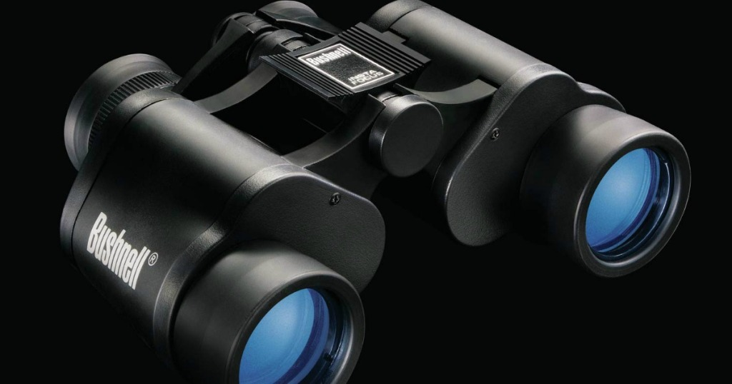 bushnell binoculars with black background
