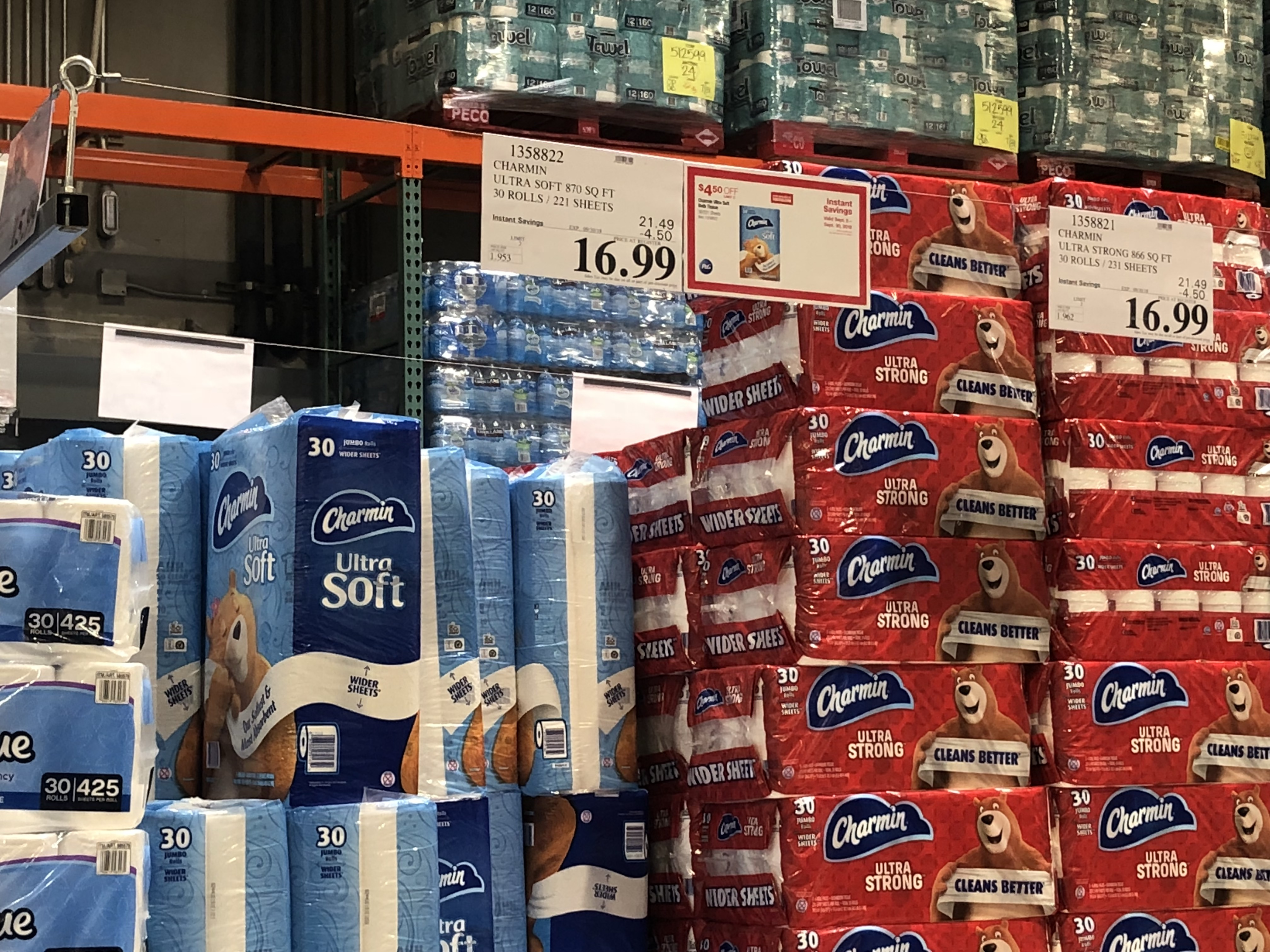 Costco Monthly Deals for September 2018 - Charmin toilet paper at Costco