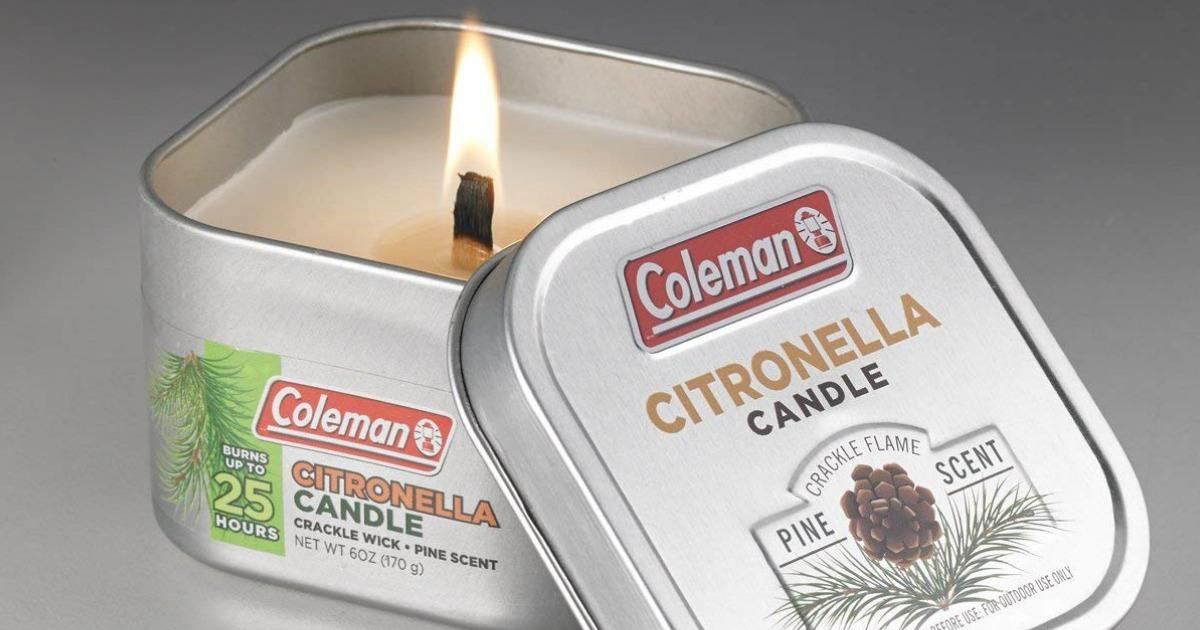 Coleman Citronella Candle Pine Scented