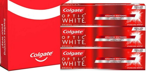 Amazon: Colgate Optic White Toothpaste 3-Pack Only $7 Shipped + More Colgate Deals