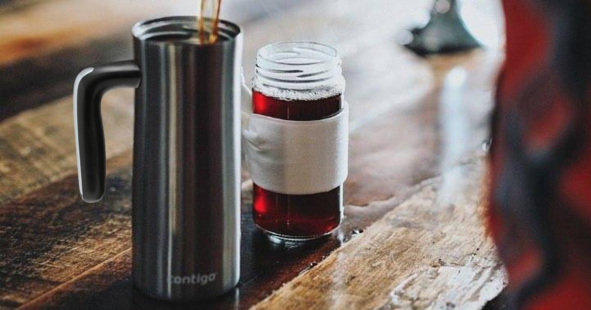 contigo travel mug on table