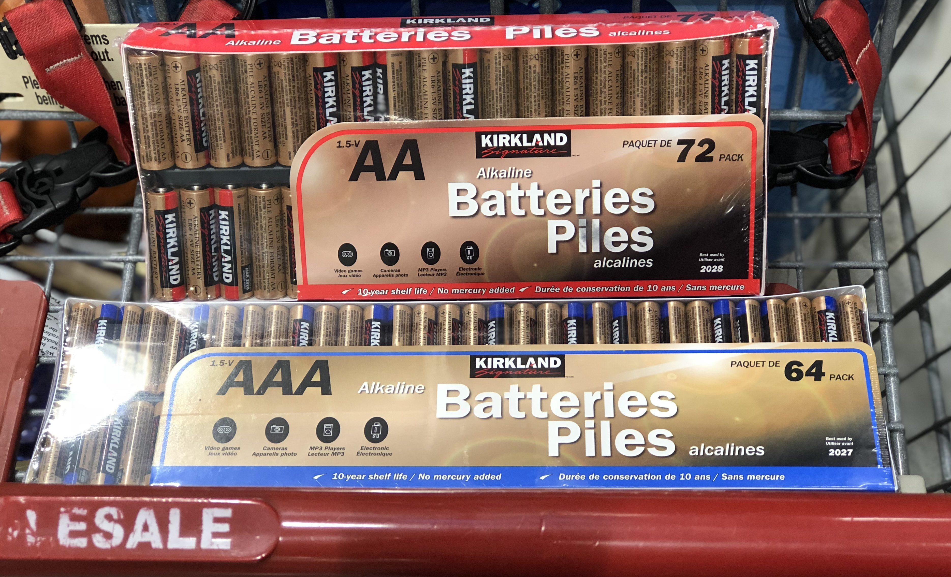 name brands sometimes make costco items, like these Costco brand batteries