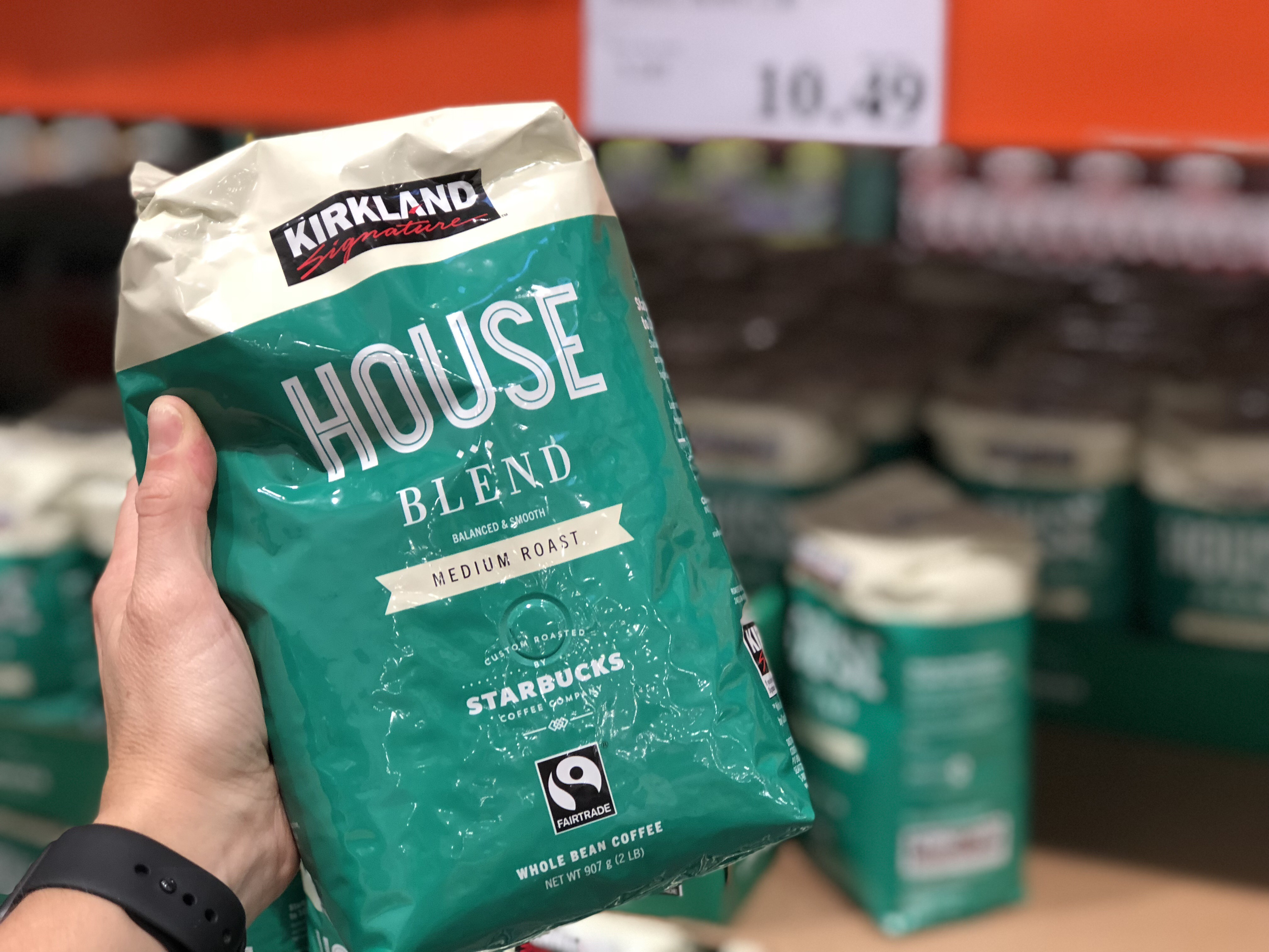 name brands sometimes make costco items, like this Kirkland Signature Coffee
