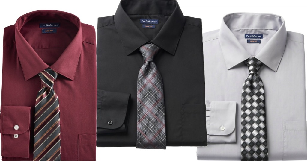 59749878350 Kohl s Cardholders  Croft   Barrow Men s Shirt   Tie Sets Only  5.83  Shipped (Regularly  50)