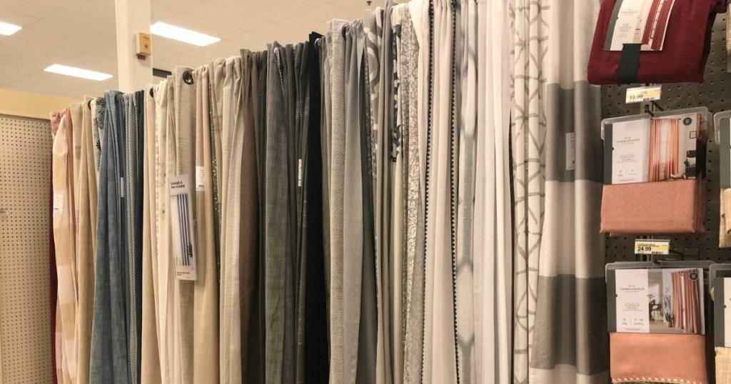 Curtains at Target
