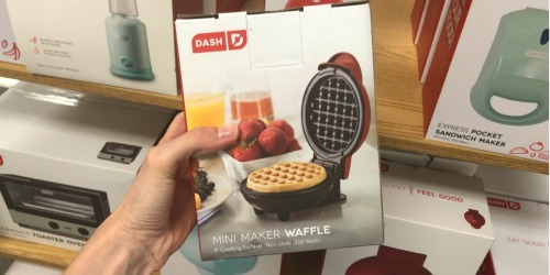 Dash Mini Waffle Maker Only $7.49 at Target + TONS More Kitchen Appliance Deals