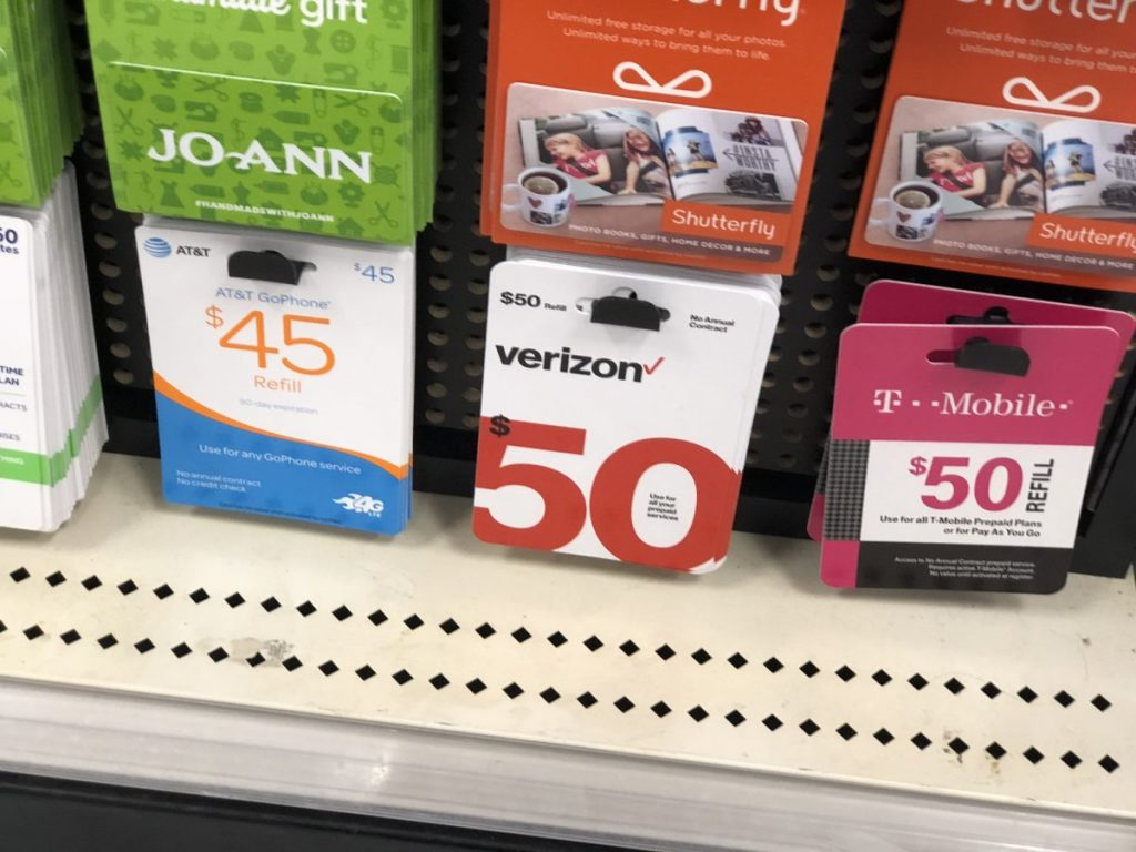 Prepaid Phone Cards at Target