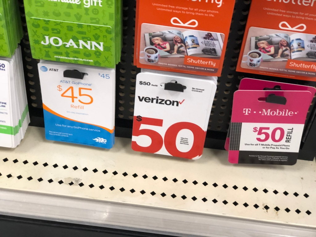 RARE Discounts on Prepaid Phone Cards at Target (Verizon
