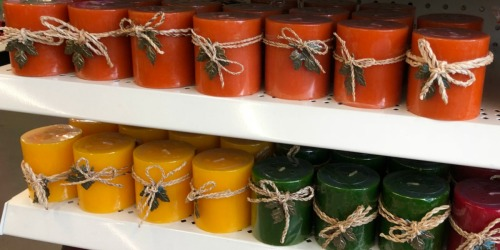 Fall Candles & Holders Only $1 at Dollar Tree